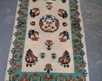 1950s Hand-Knotted Turkish Rug (3446)