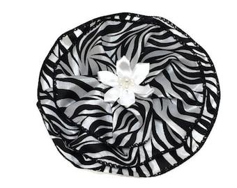 Zebra Kippah Black and White Kippah Zebra Yarmulke Zebra Kippot Bat Mitzvah Kippa