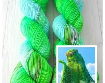 """Hand dyed """"Te Fiti"""" superwash merino sock yarn"""