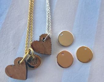 Graduation Heart Necklace Initial Charm