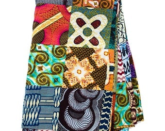 Handmade Patchwork fabric from Africa / African Print fabric / Wax print / African Fabric / African cloth / African Print / 6 yards  WP94