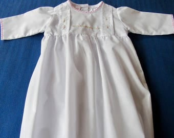 Baby day gown for new born girl or baby shower