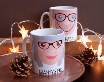 Personalised Grandparents Gift Mug-Personalised Grandad Gift Mug-Personalized Grandma Gift Mug-Gift mug-Birthday Gift for Grandparents-Mug
