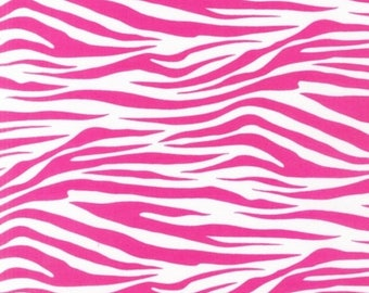 Zebra Stripe in Hot Pink - Metro Living by Robert Kaufman Fabrics