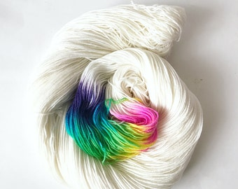 Marshmallow Rainbow Sock Yarn