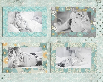 ON SALE Digital Frames - photoshop template psd  - INSTANT Download