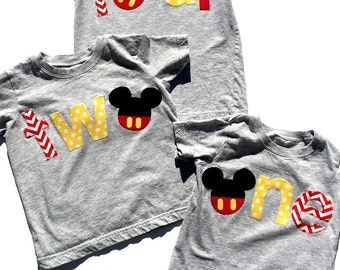 Mouse Birthday,Disney ,One, Two,Four, First Birthday, Second Birthday, Fourth Birthday,Birthday Shirt,Gender Neutral, Ready To Ship