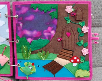 Fairybook - 1 Quiet book page Magic Forest PATTERN & TUTORIAL