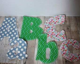 Custom Fabric Alphabet Letters - Brightly Colored, Montessori Toys, by letter or by set of 26, uppercase and lowercase