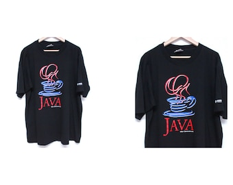SALE aesthetic t shirt - NOS vintage java tshirt - 90s graphic t shirt - 90s computer t shirt vintage silicon valley promo tee - size medium