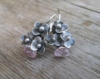 pink topaz - Earrings