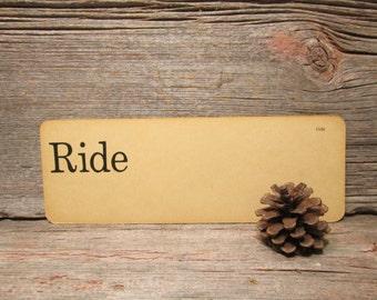 Vintage Flash Card Ride