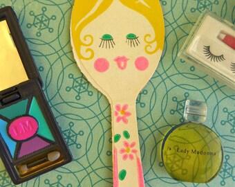 Vintage Barbie Face Mirror, Makeup Case & accessories