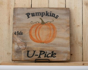 Pumpkins U-Pick Sign