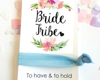 Bride Tribe Wedding Wreath Favour favor Bachelorette Card Hen Party Hair Band FOE To Have & To Hold