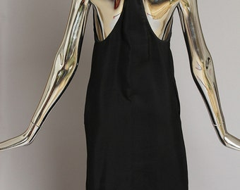 Bottega Veneta Chic and Sexy Black Cocktail Dress with Knotted Halter Back