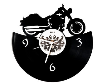 Vinyl clock chopper Harley