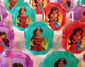 24 DISNEY's ELENA of AVALOR princess Isabell rings for cupcake toppers cake birthday party favors goodie bags decorations decor Isa Jr.