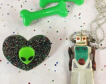 Pastel Goth Alien SciFi Robot Gift Set