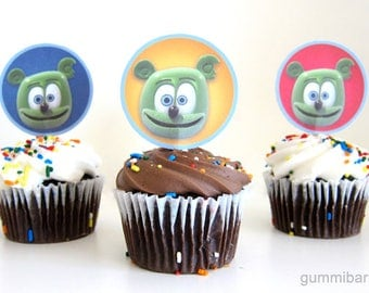 Gummibär (The Gummy Bear)  Cupcake Toppers ~ Download ~ Printable ~ Party Decoration