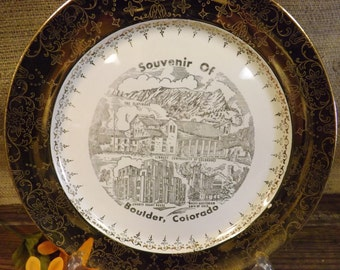 Boulder Colorado Souvenir Plate
