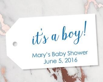 It's a boy Tag - Baby Boy Tags - Boy Tags - Blue Tags - Baby Shower Tags - Baby Shower Favor Tags - Baby Shower - SMALL