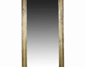 Distressed Regency Antique Giltwood Wall Mirror, 19th century