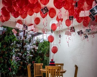 11 inch Red latex ceiling balloons