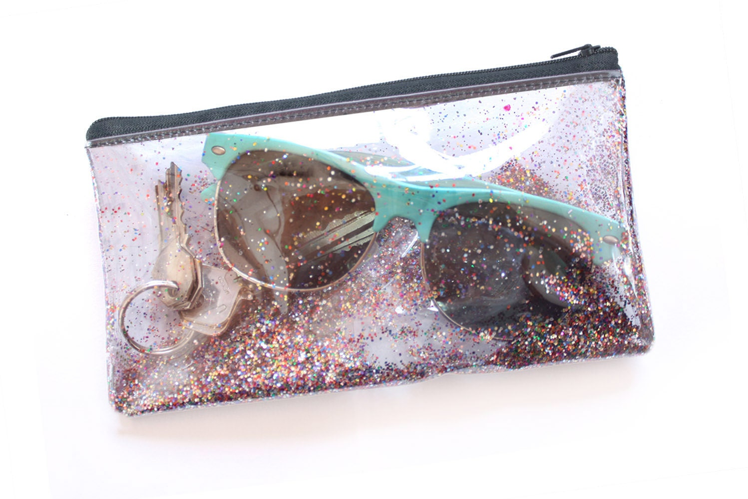 Glitter Party Small Pouch Transparent Handbag Clear Bag