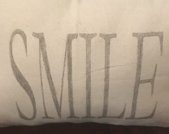 SMILE Pillow-What a great reminder!  Great for anyone and any room.