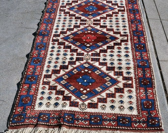 Turkish Triple Medallion Village Rug -- 6 ft. 3 in. by 3 ft. 5 in.
