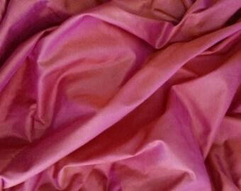 China silk, fuchsia iridescent