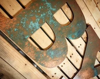 Rustic Letters-Home Decor-FREE SHIPPING-Wall Art-Patina Wall Letters-Family Letter-Letter Decor-Rustic Decor-Wood Letters