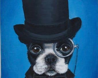 Boston Terrier Painting