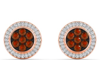 10Kt Rose Gold 0.50 Ct Diamond Stud Earrings