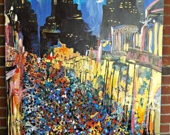 Lundi Night   New Orleans Street Painting