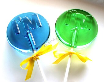 1st Birthday Party Favors, Number Party Favors, Number 1 Lollipops, Table Numbers, Number 1, Turning ONE, Barley Pops, 9 Lollipop Favors, 1