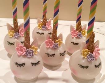 Precious Unicorn Cake Pops