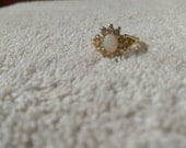Vintage faux Opal statement ring size 6