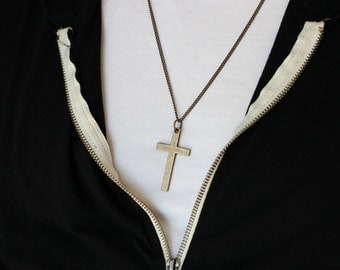 Mens Metal cross - Mens Metal Cross Necklace - Metal cross - Stunning Metal cross