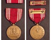 WWll us army good conduct medal with ribbon bar