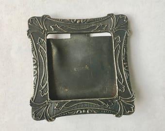 vintage picture frame brooch, sterling
