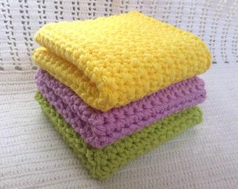 Crochet / Bright Dish Cloths