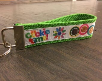 LAST ONE!! Girl Scout Cookie keyfob keychain wristlet