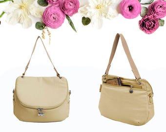 Brown Crossbody Messenger Shoulder Canvas Bag