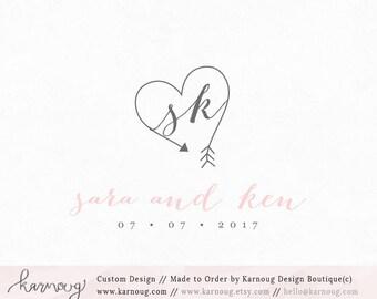 Wedding Logo Wedding Monogram Wedding Initials Wedding Design Custom Design Premade Logo Watercolor Wedding Logo Save the Date Logo Design