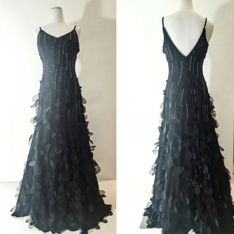 BLACK Prom DRESS Womens Formal Dress Womens EVENING Dress