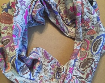 Infinity Scarf, flowers, pastels, children, toddlers, babies