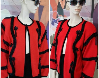 Vintage red and black Sweater by Spree International size S