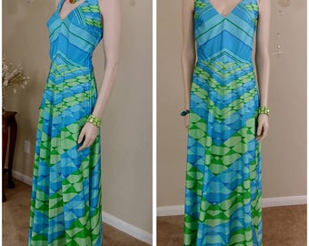 Beautiful vintage 70s long maxi dress by Jack Hartley